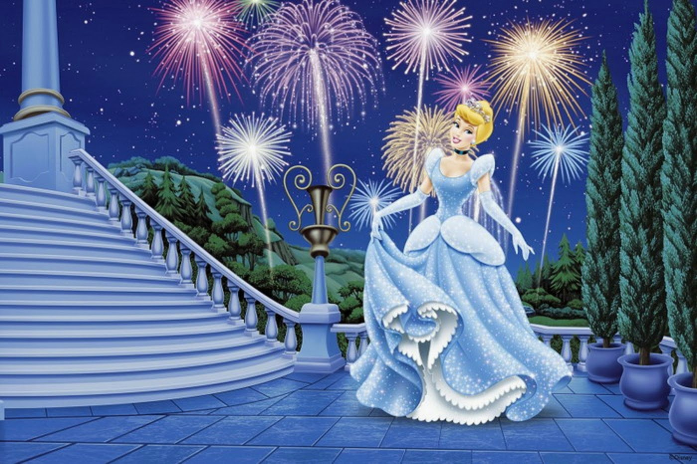 Cinderella mickey mouse pictures for Disney princess ballroom wall mural